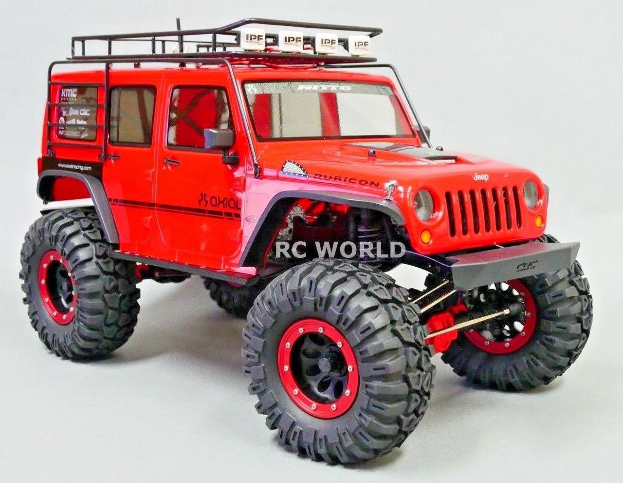 Jeep Rims And Tires >> Axial Jeep Wrangler 2 2 Beadlock Crawler Wheels Tires 130mm Red