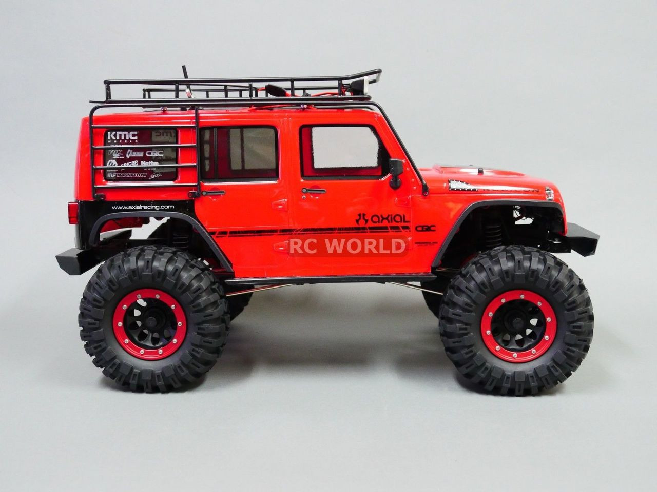 Jeep Wrangler Rims And Tire Packages >> Axial Jeep Wrangler 2 2 Beadlock Crawler Wheels Tires 130mm Red