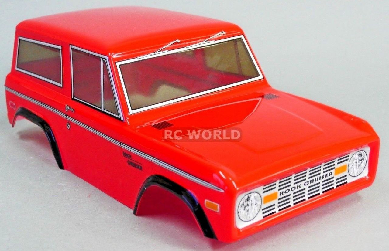 Rc Truck Body Shell 1 10 Ford Bronco 252mm For Tamiya Cc01 Red Rc World