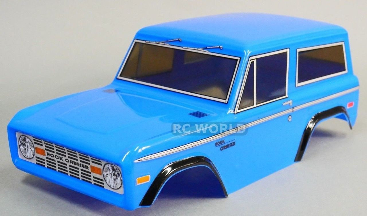 Rc Truck Body Shell 1 10 Ford Bronco 252mm For Tamiya Cc01 Blue Rc World