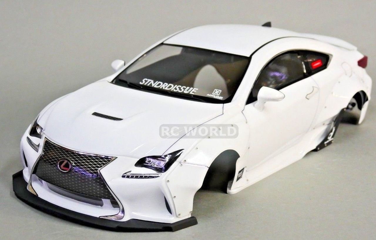 Car Body Kits >> 1 10 Rc Car Body Shell Lexus Rcf Rocket Bunny Full Wide Body Kit Clear