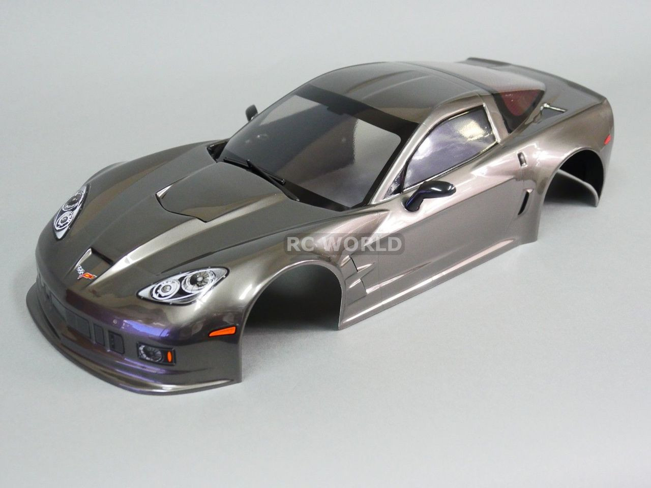 1 10 Rc Car Body Shell Chevy Corvette 190mm Gun Metal Finished Rc World