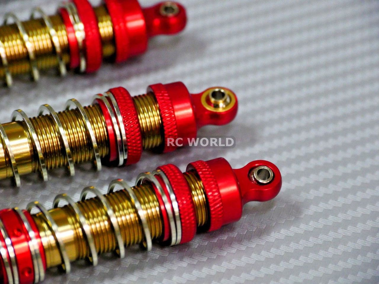 For Axial WRAITH BOMBER METAL SUSPENSION SHOCKS Dual Rate 130MM BLACK//GOLD 4 pcs