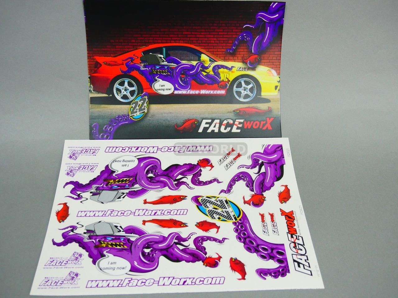 Rc 1 10 car drift decals evil octopus coming now decals stickers new