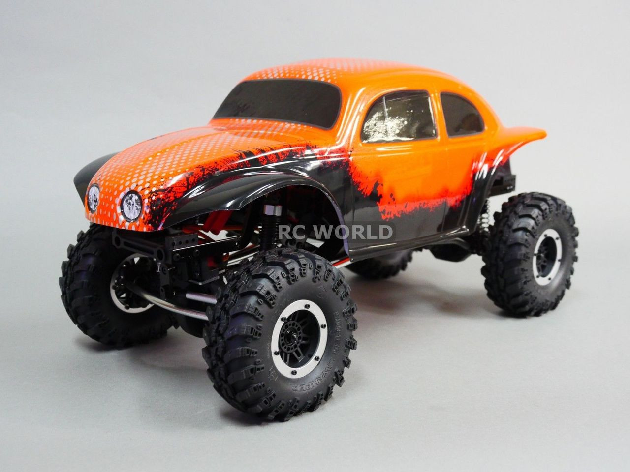 RC 1/10 Truck BODY BAJA Monster BEETLE BUG Rock Crawler 313mm -PAINTED-  ORANGE