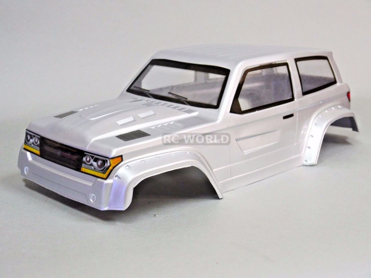 For Axial SCX10 II TRUCK BODY SHELL -Painted- Silver