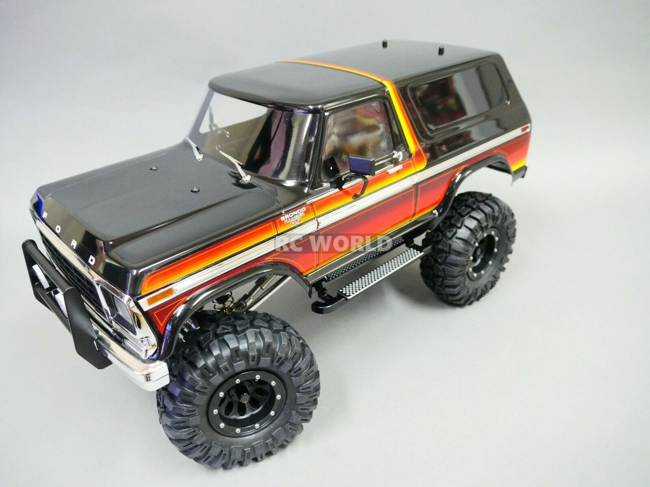 Traxxas TRX-4 BRONCO Metal SIDE STEP Board BLACK