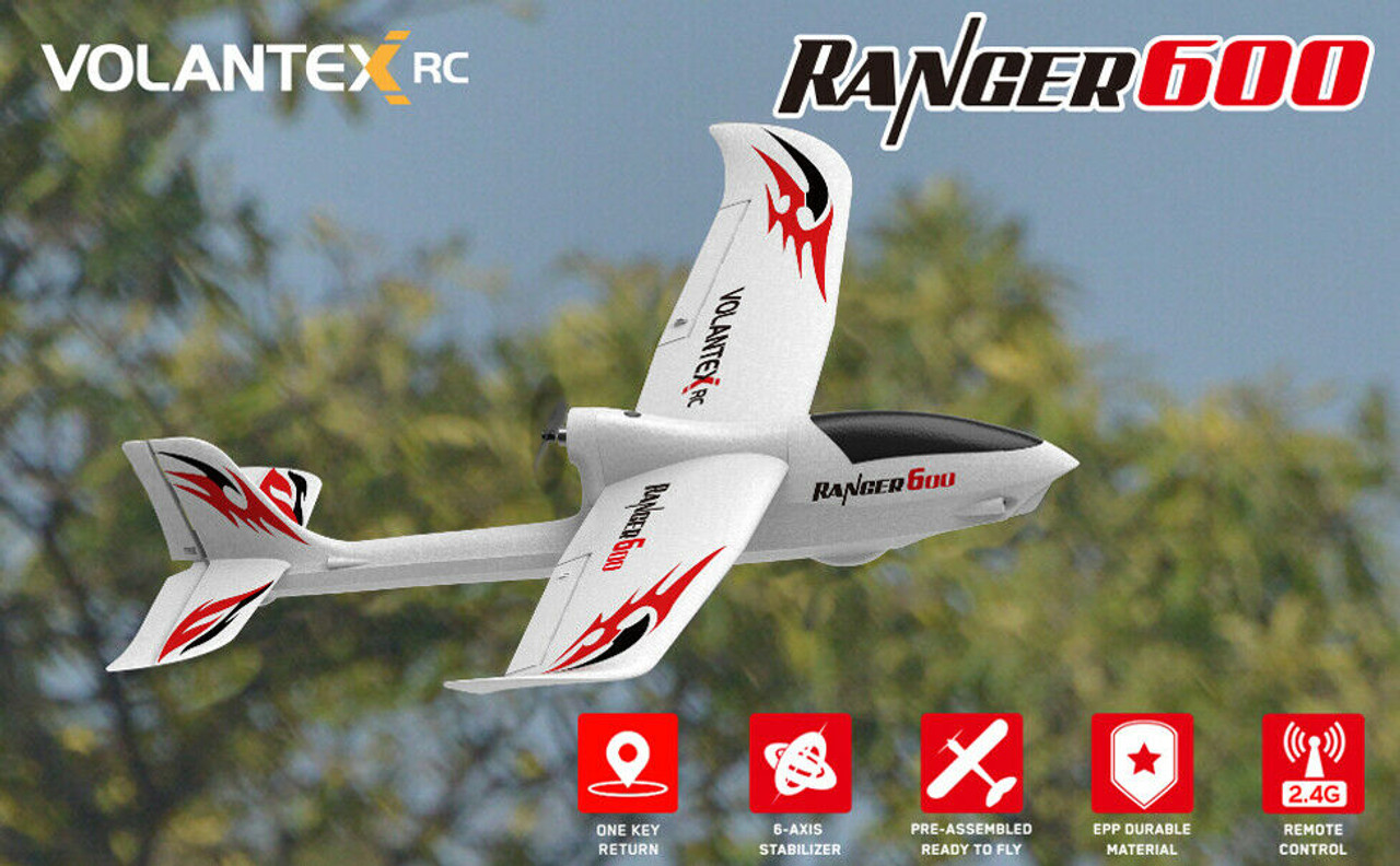 RC AIRPLANE GLIDER Ranger 600 Electric Trainer Plane Gyro RTF