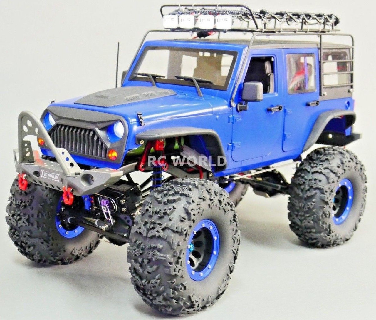 Custom Jeep Wrangler >> Custom Rc Jeep Wrangler 2 2 Rock Crawler 8 4v Single Speed Roof Rack Rtr
