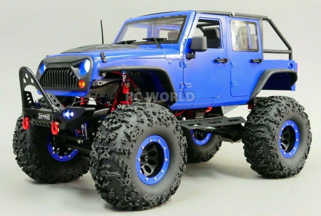 Jeep Rock Crawler >> Custom Scale 1 10 Rc Jeep Wrangler Rubicon 4x4 2 Speed Rock Crawler 11 1v Rtr