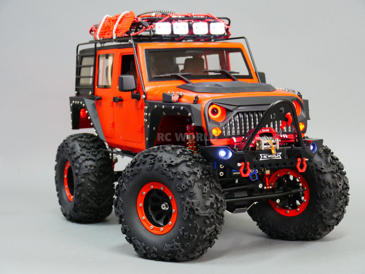 Jeep Rock Crawler >> Custom Built 1 10 Rc Jeep Wrangler Rubicon 2 Speed Rock Crawler 8 4v Rtr