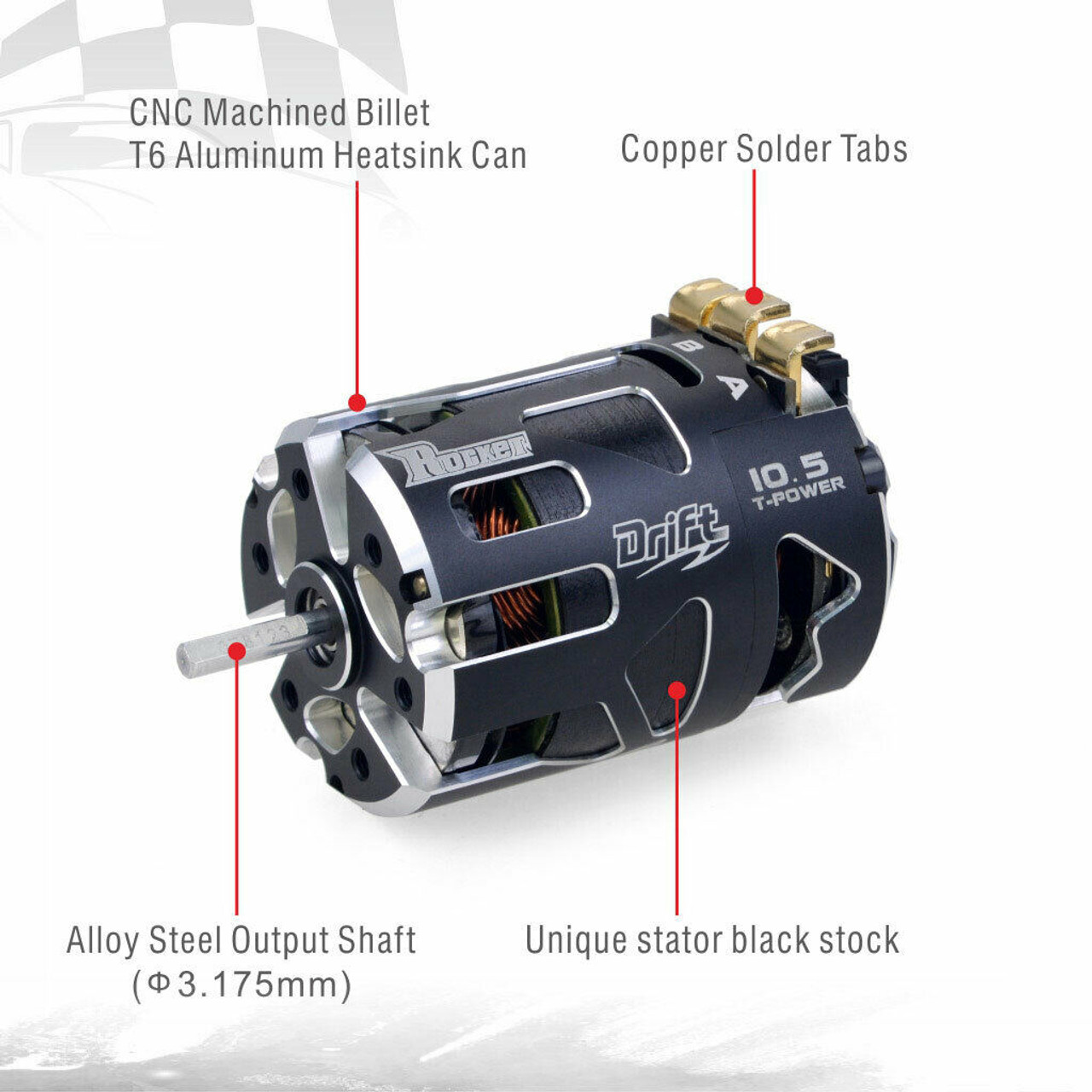 Waterproof 540 13.5T Sensored Brushless Motor for 1//10 RC Car Truck Crawler