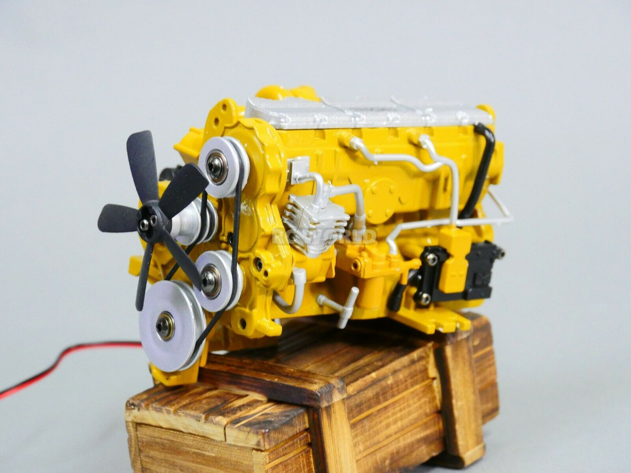 RC 1//12 Scale C-7 Caterpillar ENGINE Model Diecast w// Internal Fan Motor