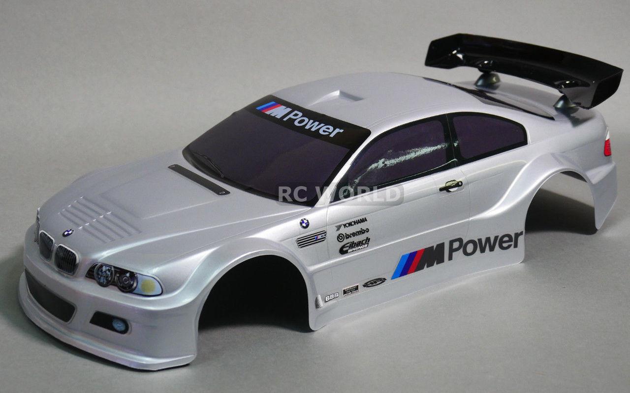 1//10 RC Car BODY Shell BMW E46 M3 200mm *PRE FINISHED* BLACK