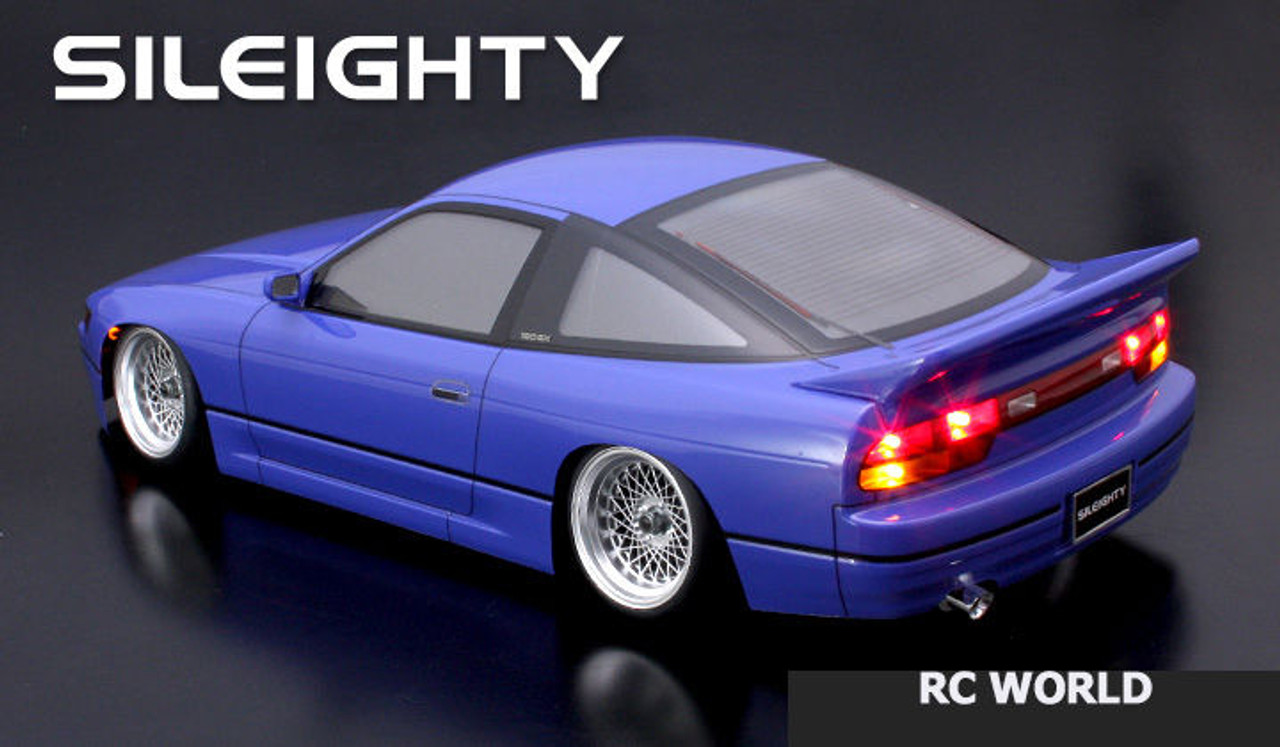 1//10 RC Car Body Shell NISSAN 180SX Sil80 SILEIGHTY Drift  BODY W// Light Bucket