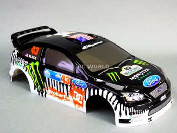 1/10 RC Car BODY Shell FORD FOCUS Rally KEN BLOCK Monster DC's Gymkhana 190MM