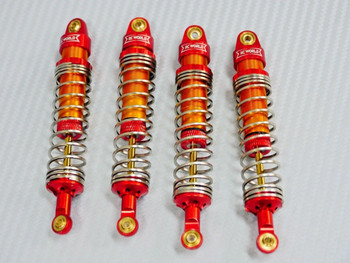 1/10 RC TRUCK All METAL SUSPENSION SHOCKS For Axial HPI Traxxas (4 pcs) Red