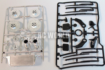 RC 1/10 Body Accessories Wipers, Inter cooler, Rotors, Exhaust