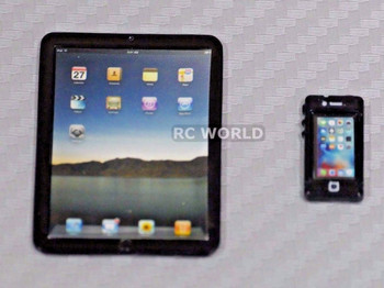 RC 1/10 Scale ACCESSORIES METAL Toy APPLE , Phone, Tablet Black