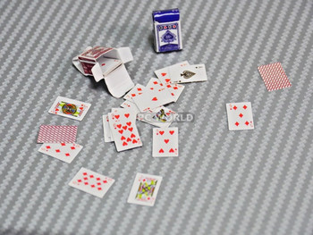 RC 1/10 Scale Accessories Nano PLAYING CARDS Poker, (2 packs)