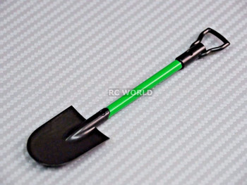 RC 1/10 Scale Accessories SHOVEL Green Plastic