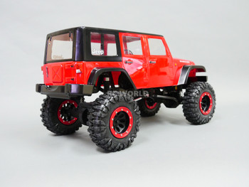 RC 1/10 Rock Crawler JEEP WRANGLER RUBICON 4X4 RC TRUCK Crawler RTR -RED-