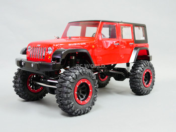 RC 1/10 Rock Crawler JEEP WRANGLER RUBICON 4X4 RC TRUCK Crawler RTR -RED