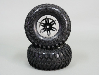 AIR System 2.2 TRUCK TIRES BEADLOCK Inflatable Rock Crawler TIRES/RIMS 4 SILVER