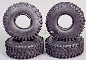 RC 1/10 TRUCK Tires SUPER SWAMPERS 1.9 ROCK TIRE 120mm W/ Foam