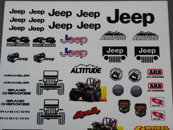 Jeep Decals Stickers for 1/10 RC Crawlers