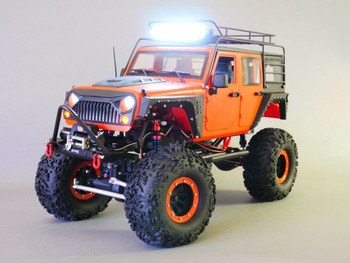 RC Truck Body Shell 1/10 JEEP WRANGLER RUBICON Hard Body V3 + METAL ROOF CAGE