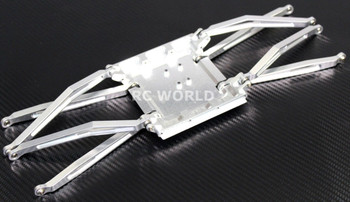 Axial Wraith Metal SKID PLATE + Front & Rear Trailing Arms -SILVER-