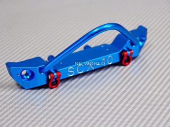 For Axial SCX10 RC Truck Front BULL NOSE Metal BUMPER w/ Metal Handles BLUE