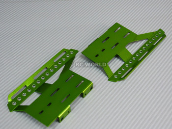 Axial SCX10 II Side Guard SKID PLATES Left + Right GREEN
