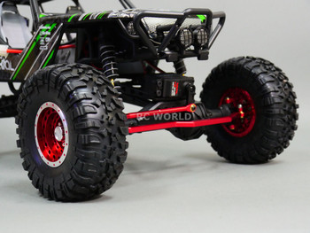 For Axial Wraith, Scorpion Front ALL Metal STEERING LINK - RED