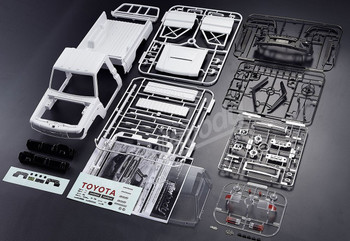 RC Hard Body Land Cruiser LC70 Goes together like a model.