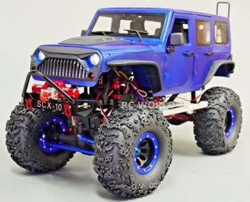 RC Truck Body Shell 1/10 JEEP  WRANGLER RUBICON Hard Body V2 + METAL ROOF CAGE