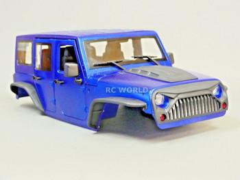 RC Scale Truck Body Shell 1/10 JEEP WRANGLER RUBICON Hard Body  V2 + INTERIOR