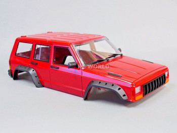 RC Scale Truck Body Shell 1/10 JEEP CHEROKEE Hard Body / INTERIOR  313mm
