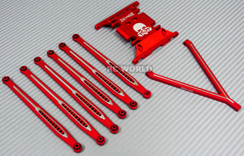 AXIAL SCX10 Metal SKID PLATE + Front & Rear TRAILING ARMS