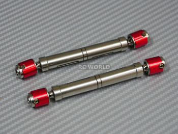 Axial SCX10 Hardened RED STEEL (2)  DRIVE SHAFTS Rock Crawler