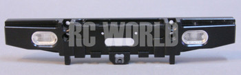 RC Truck METAL REAR BUMPER W/ LED  Lights For RC Land Rover Defender 90