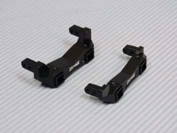 For Traxxas TRX-4 Upgrade  METAL BUMPER BRACKETS F+R  Lightweight Aluminum RED