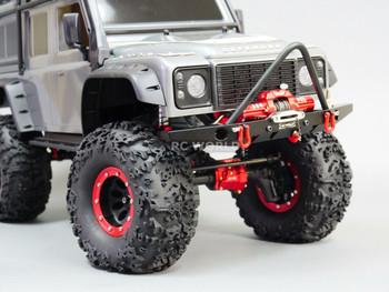 Traxxas TRX-4 Upgrade  Front METAL BUMPER Bull Nose Lightweight Aluminum W/ LED