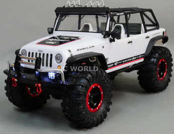 For Axial SCX10 RC Truck FRONT BULL NOSE METAL BUMPER w/ LED Lights