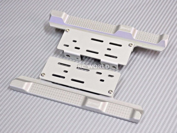 Axial SCX10 II Side Step Running  Boards Guard SKID PLATES Left + Right Silver