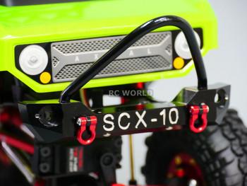 Axial SCX10 RC Truck Front BULL NOSE Metal  BUMPER w/ Metal Handles SILVER