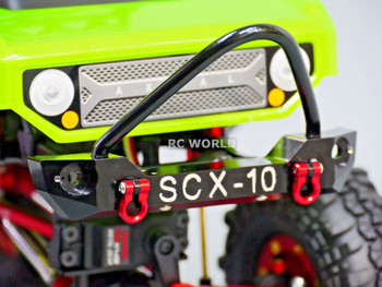 For Axial SCX10 RC Truck Front BULL NOSE Metal BUMPER w/ Metal Handles RED