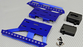 Axial SCX10 II Side Guard SKID  PLATES Left + Right BLUE