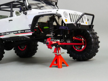 For Axial SCX10 Jeep Honcho Front ALL METAL KNUCKLES + STEERING LINK - GUN METAL